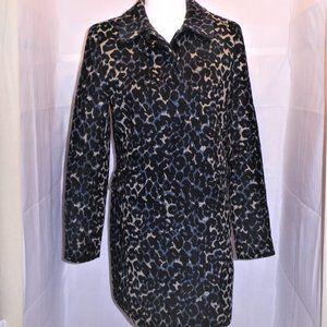 Gorgeous Trendy Faux Animal Hair Wool Coat